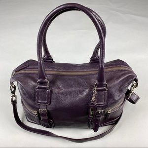 COLE HAAN Gramercy Archer Pebbled Leather Satchel